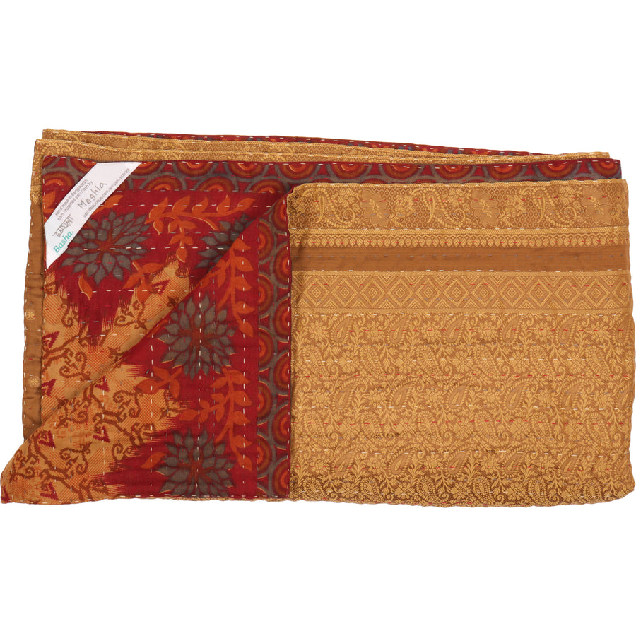 Standard Silk Blend Kantha Throw A2