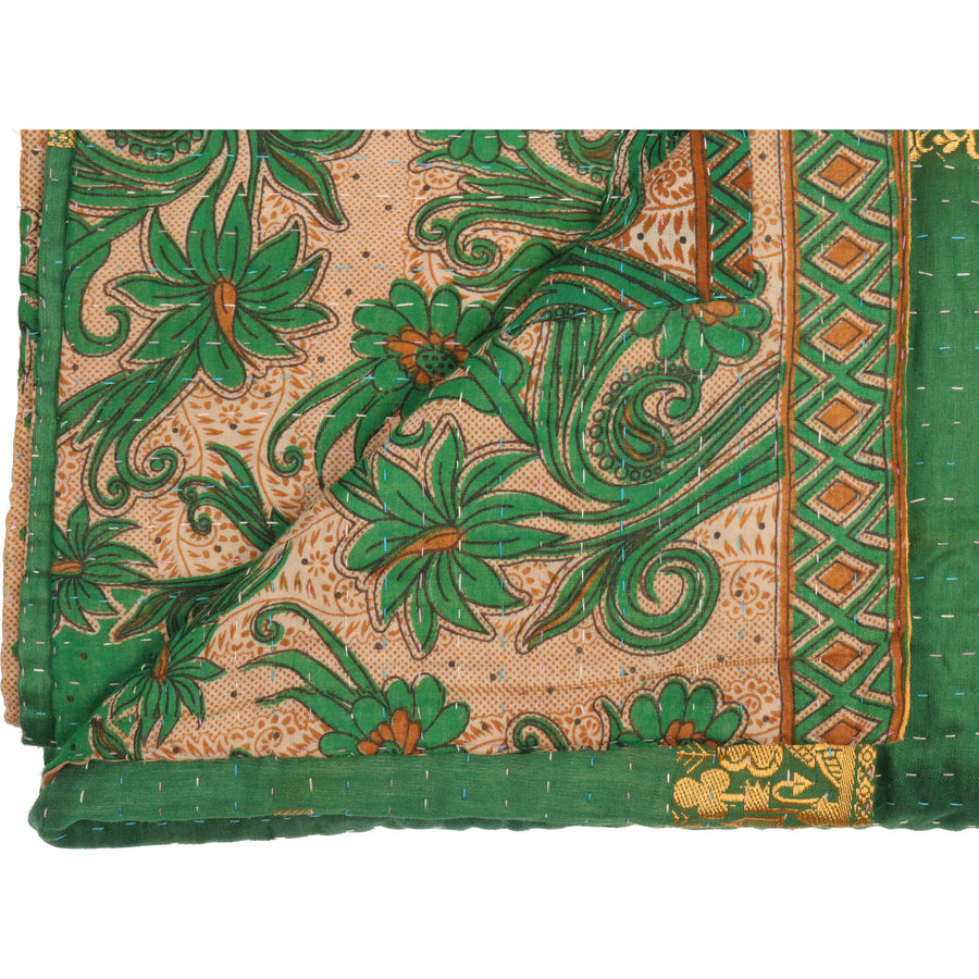 Standard Silk Blend Kantha Throw A1