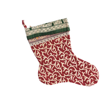 Mini Kantha Christmas Stocking