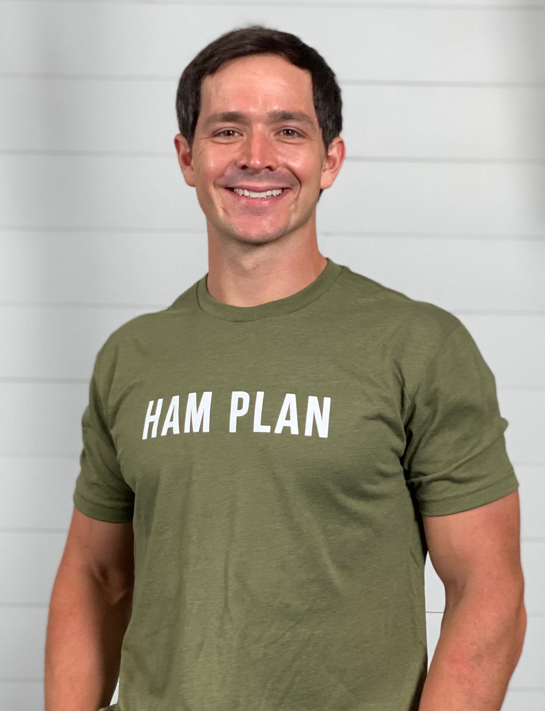 HAM Plan Basic Print T - Military Green - Mens
