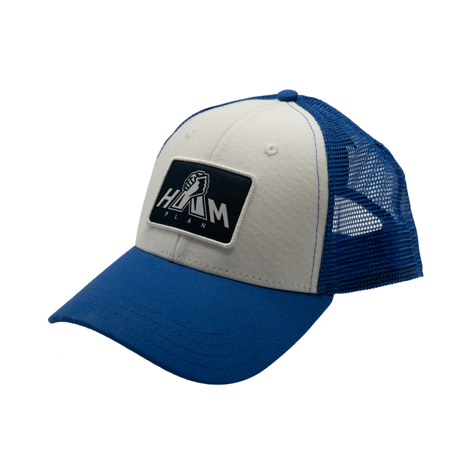 Blue & White HAM Plan Patch Hat
