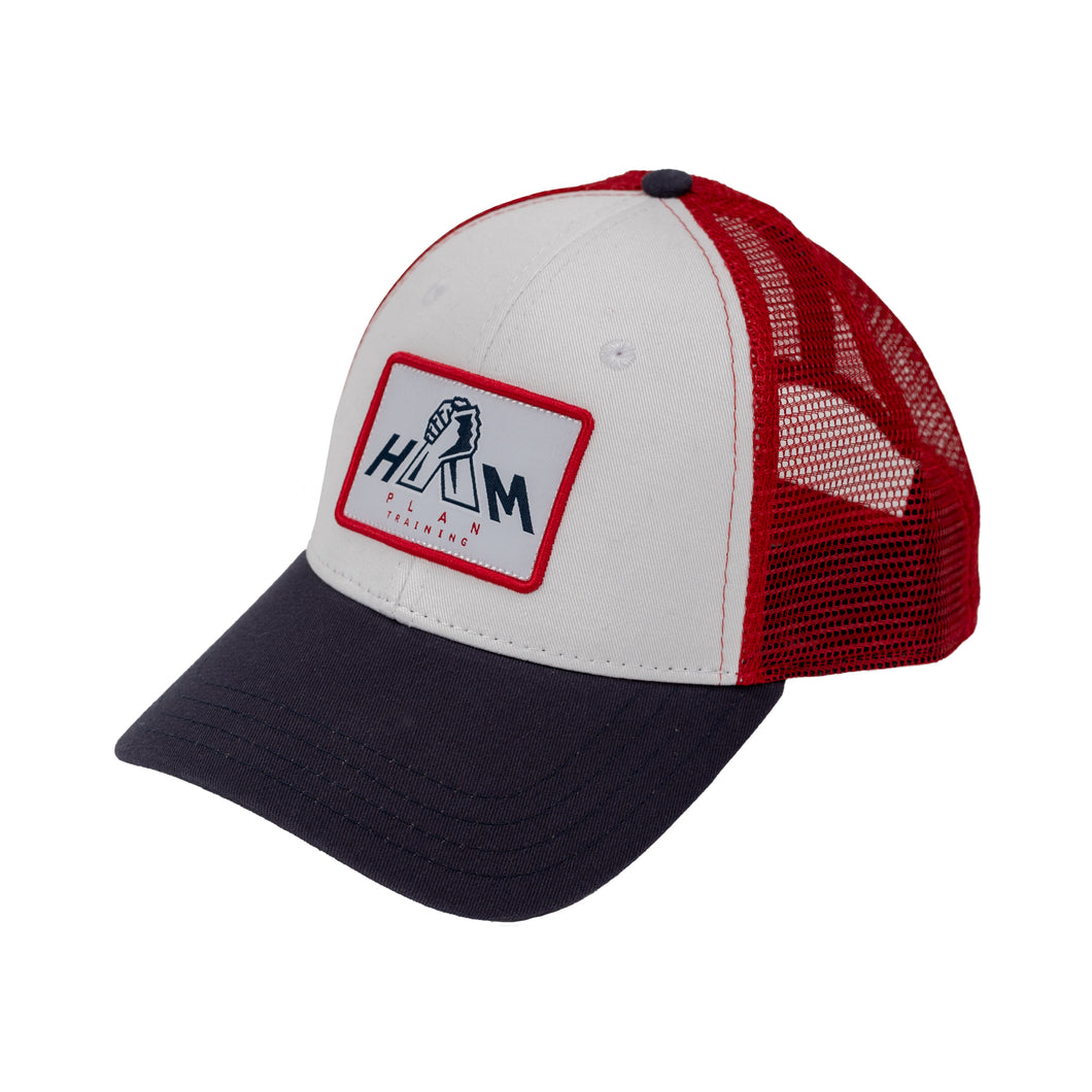 Red, White, and Blue HAM Plan Patch Hat