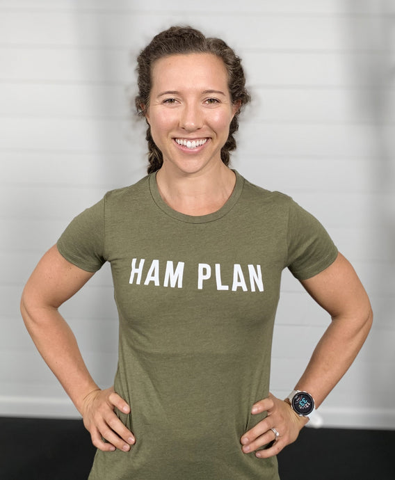 HAM Plan Basic Print T - Military Green - Womens