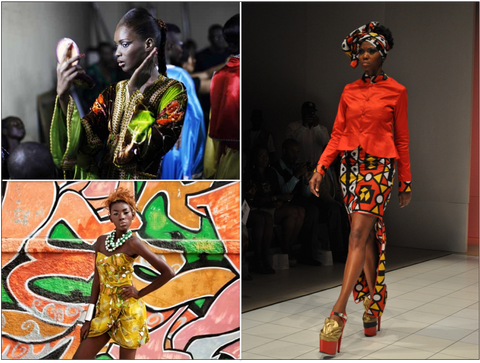 Clockwise from Top Left: Dakar Fashion Week, Nadir Tati, Adama Paris