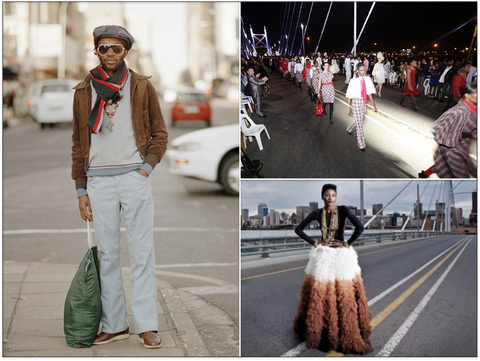 Street Style by Nontsikelelo Veleko, David Tlale Joburg Fashion Week Finale on Nelson Mandela Bridge, Joburg Fashion Week 2011 Campaign