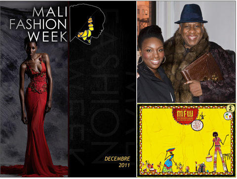 Clockwise from Left: Mali Fashion Week, Mimi Plange w/ Andre Leon Tally, Mozambique Fashion Week