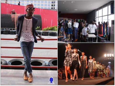 Clockwise from Left: One Nigerian Boy, Le Petite Marche, Arise Magazine Fashion Week (Lanre Da Silva)