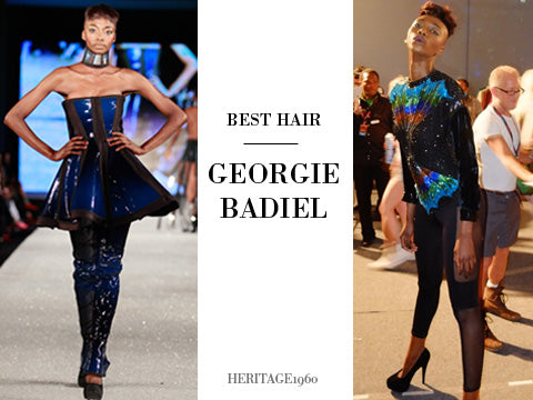 18. Best Hair - Long hair? Sure don't care! Georgie Badiel shows she has nothing to hide behind an 18 inch yaki coiffure. (Photography: Simon Armstrong)