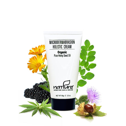 Microdermabrasion Holistic Cream with Pure Organic Hemp Seed Oil - NEW