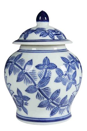Emily Blue & White Jar