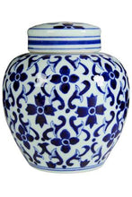 Flossie Blue & White Jar