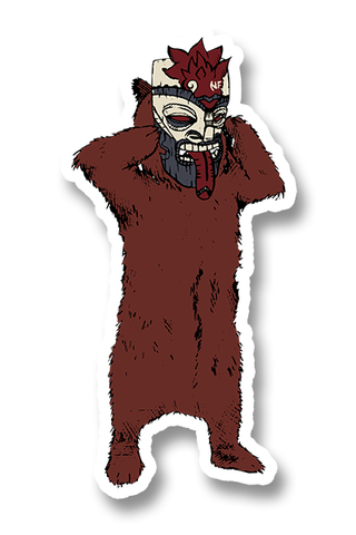 MASKED BEAR STICKER PACK | NF x STYR