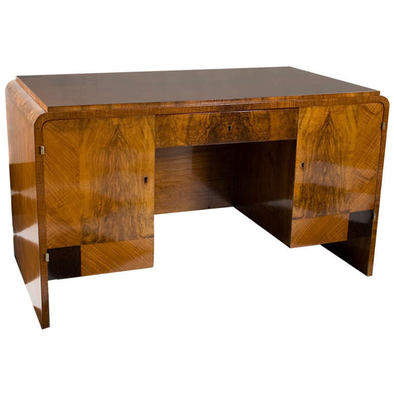 <b>FRENCH ART DECO DESK </b><br>CIRCA 1930s</br>EN SUITE WITH BOOKCASE