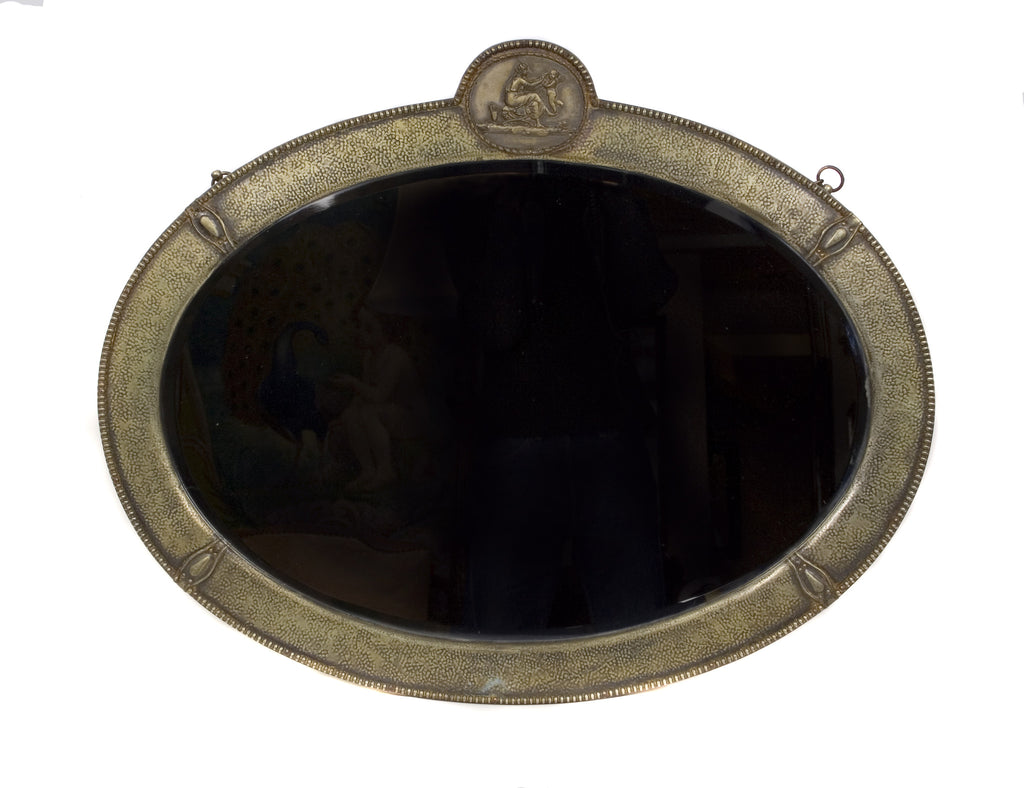 <b>ITALIAN HAMMERED METAL MIRROR</b><br> EARLY 20TH CENTURY</br>