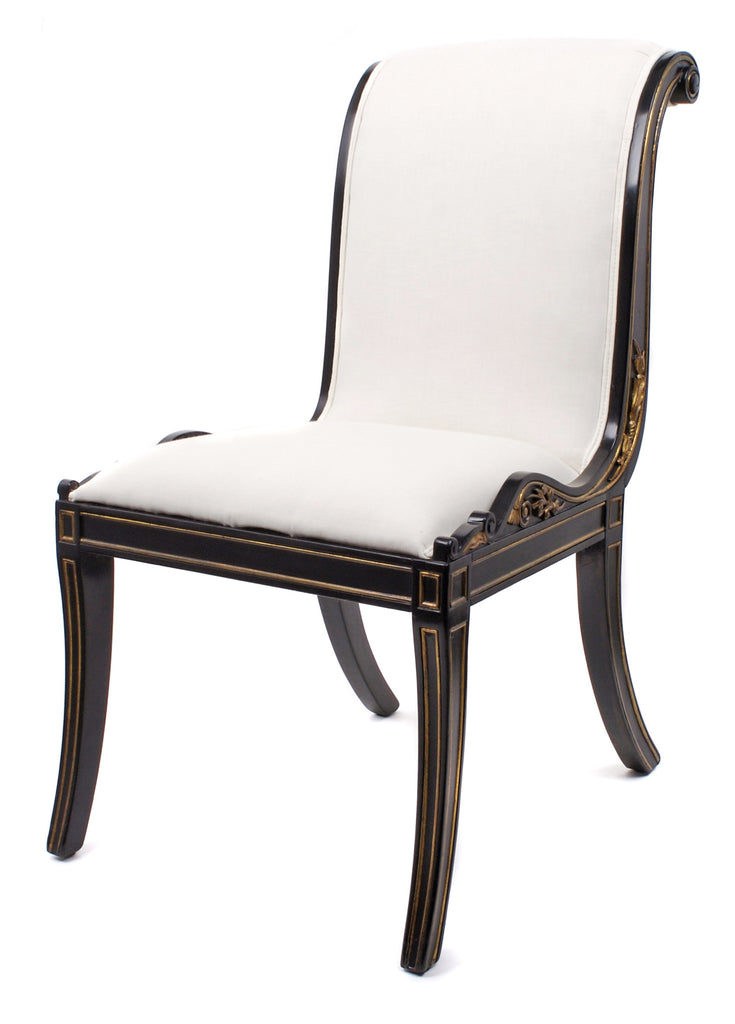 <b>PAIR OF FRENCH HOLLYWOOD REGENCY STYLE SIDE CHAIRS</b><br>CIRCA 1930-1940</br>