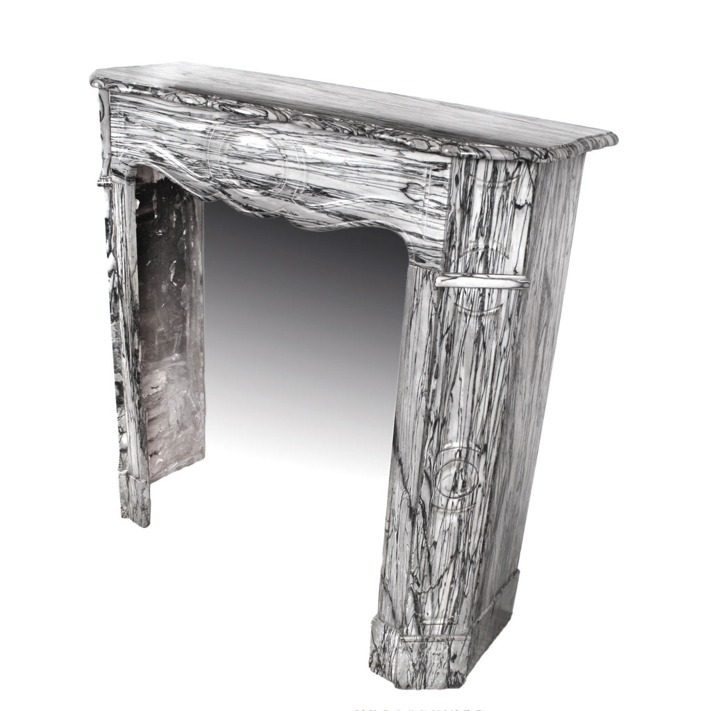 <b>ITALIAN POMPADOUR STYLE MARBLE FIREPLACE MANTLE</b><br>CIRCA 1890s</br>