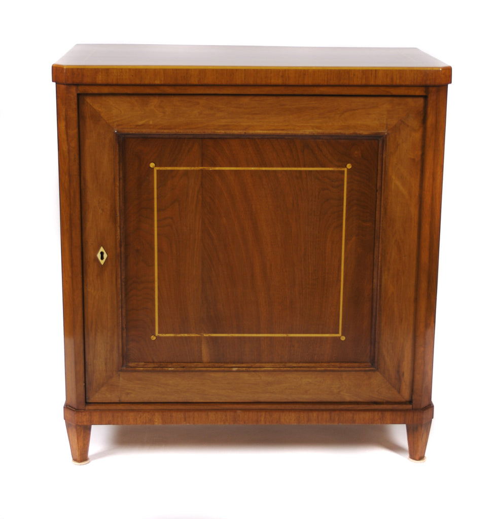 <b>DANISH INLAID WOOD CABINET</b><br>CIRCA 1890-1910</br>