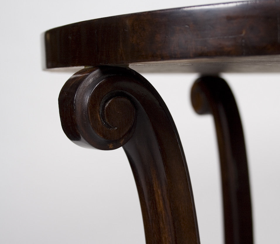 <B>FRENCH ART DECO WALNUT SIDE TABLE</B><BR>CIRCA 1930s</BR>