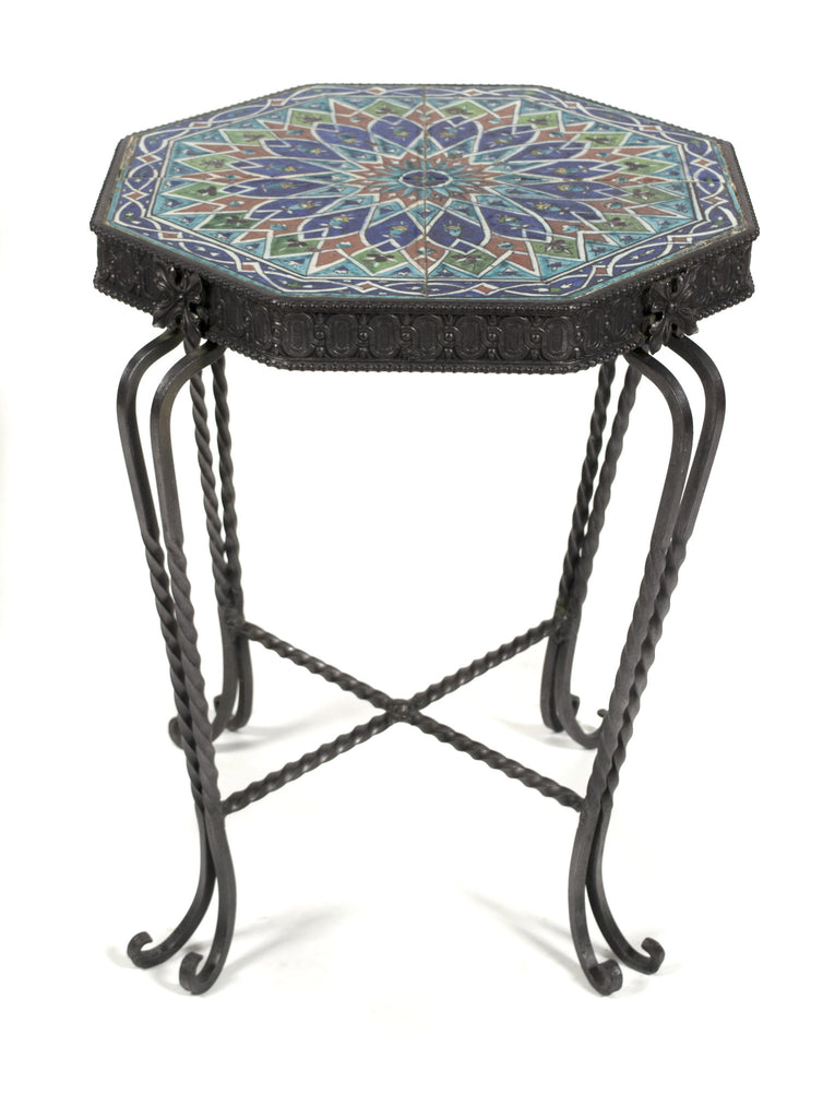 <b>FRENCH OCCASIONAL TABLE WITH TILE TOP</b><br>CIRCA 1930s</br>