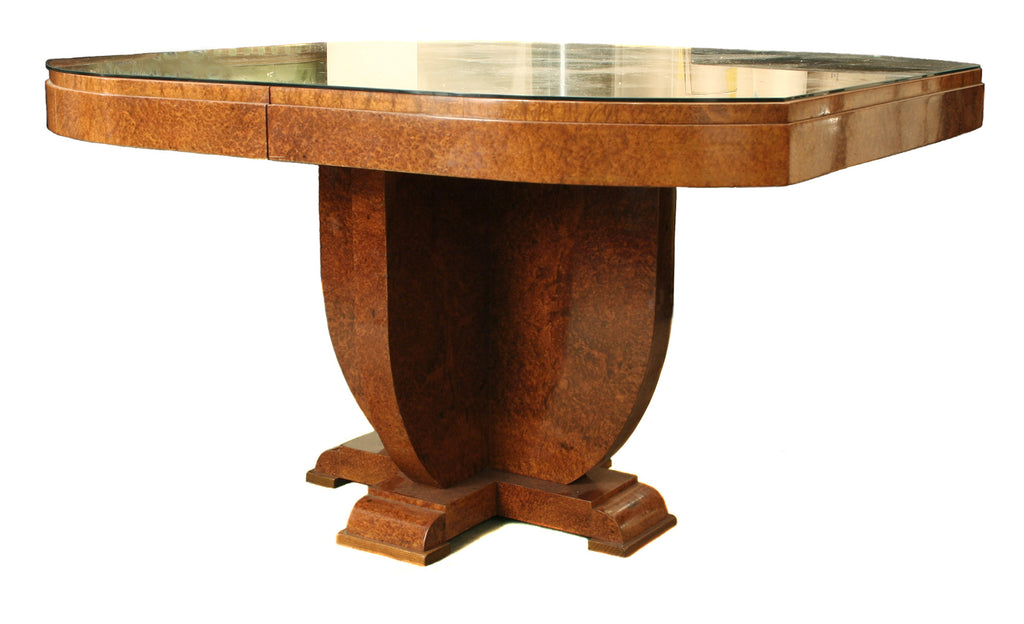 <B>FRENCH ART DECO DINING TABLE</B><BR>CIRCA 1930s</BR>