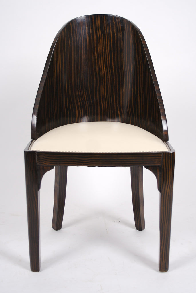 <b>SET OF 4 FRENCH ART DECO SPOONBACK CHAIRS</b><br>CIRCA 1930s</br>