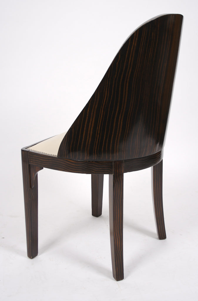 <b>SET OF 6 FRENCH ART DECO SPOONBACK CHAIRS</b><br>CIRCA 1930s</br>