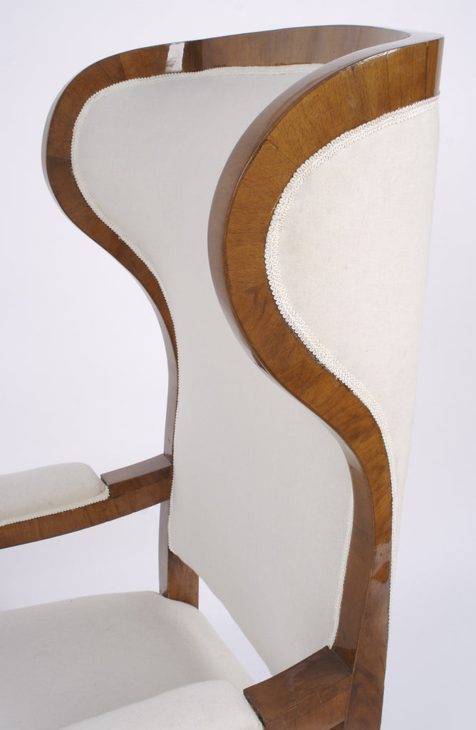 <b>AUSTRIAN BIEDERMEIER WING BACK CHAIR</b><br>CIRCA 1830s</br>