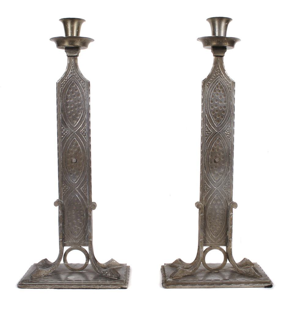 <b>PAIR OF AUSTRIAN SECESSIONIST STYLE CANDLESTICKS</b><br>EARLY 1900s</br>