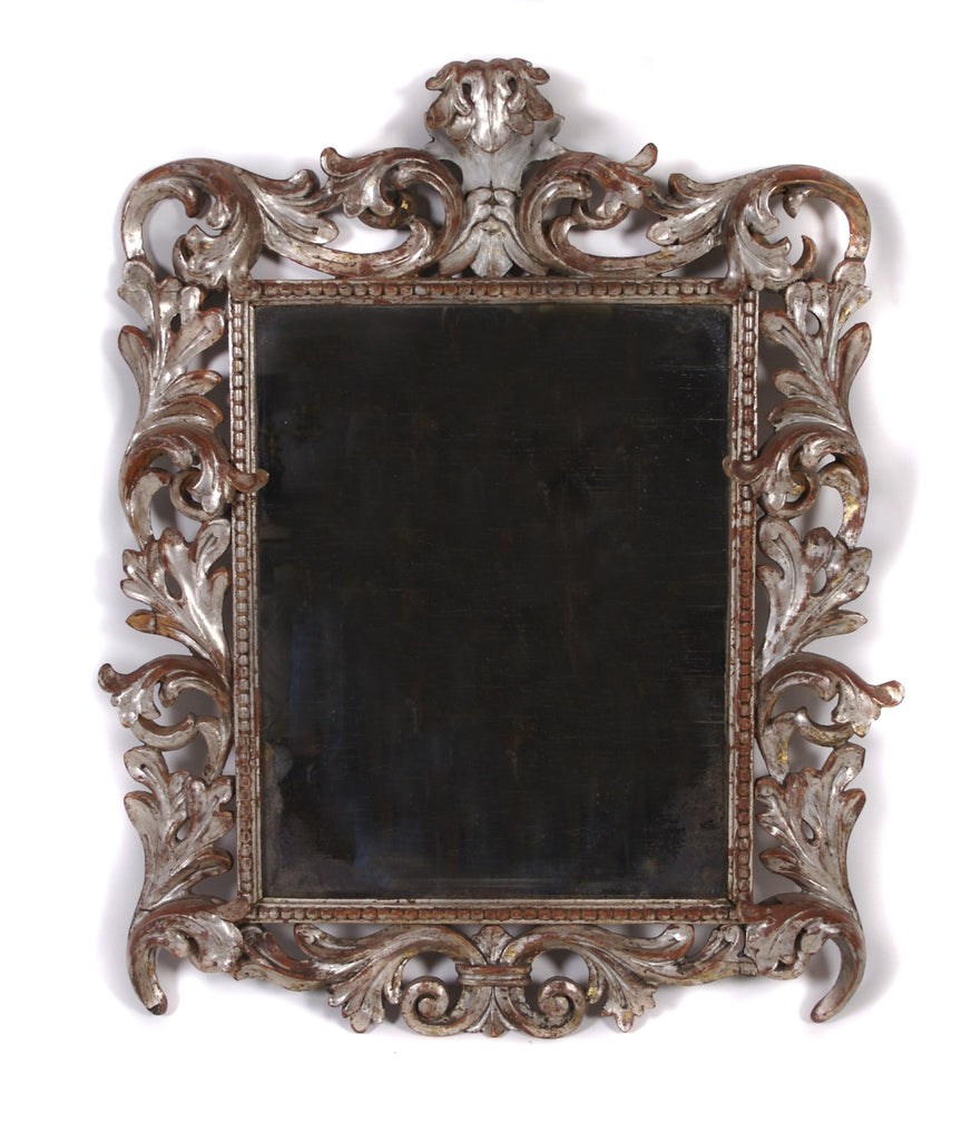 CARVED ITALIAN GILT WOOD MIRROR, 18TH CENTURY