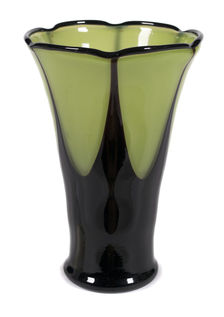 "<b> MICHAEL POWOLNY (STYLE OF) FOR LOETZ</b><br> ""TANGO GLASS"" VASE, CIRCA 1920</br>"