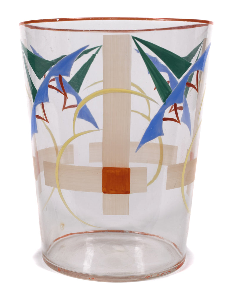 <b> CZECHOSLOVAKIAN GLASS VASE</b><br>PAINTED GLASS VASE, EARLY 20TH CENTURY</br>