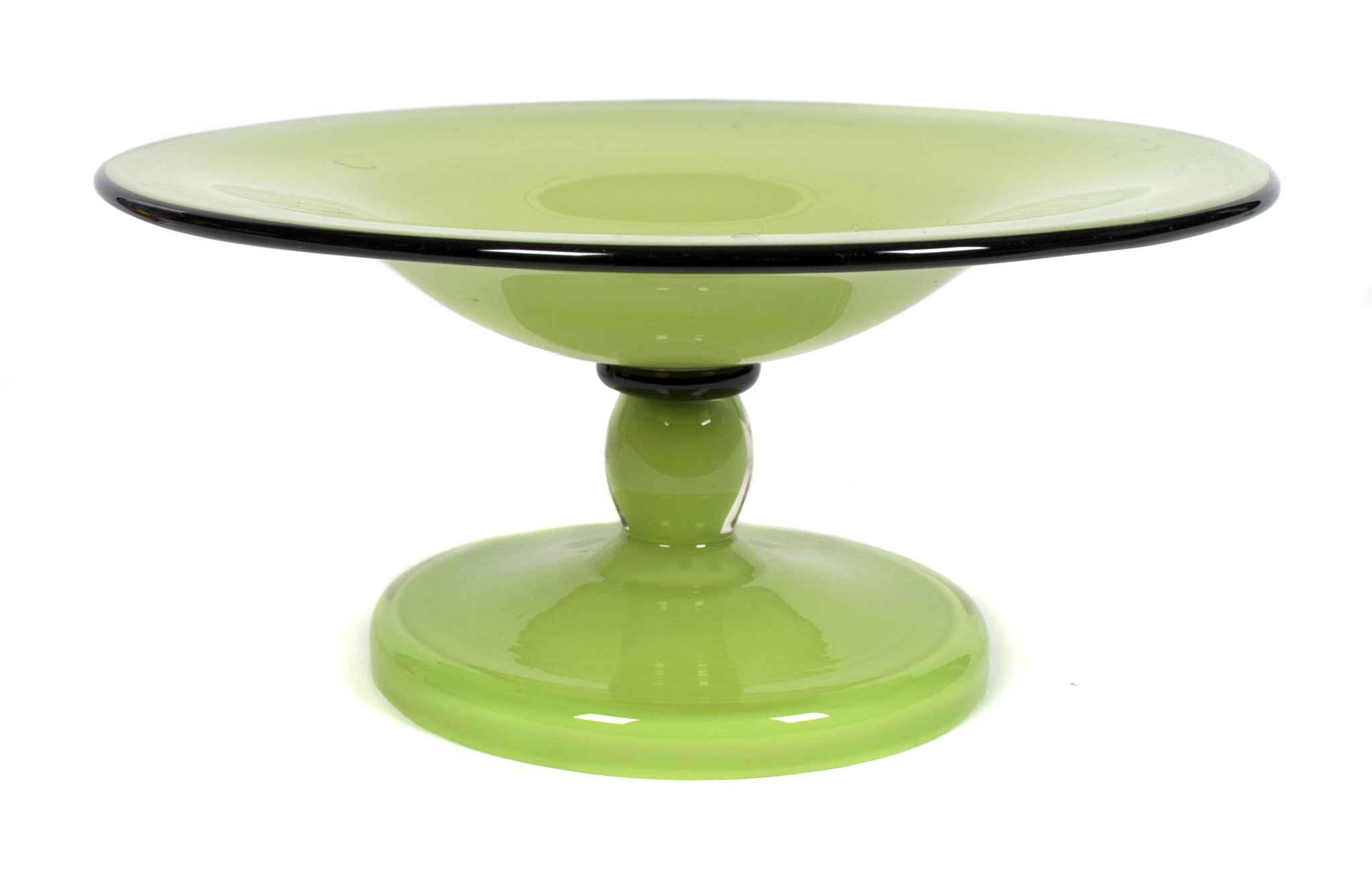 fruit pedestal crystal shop home bowl tear glassware scalloped kitchen glass nut collectibles vtg candy drops clear edge