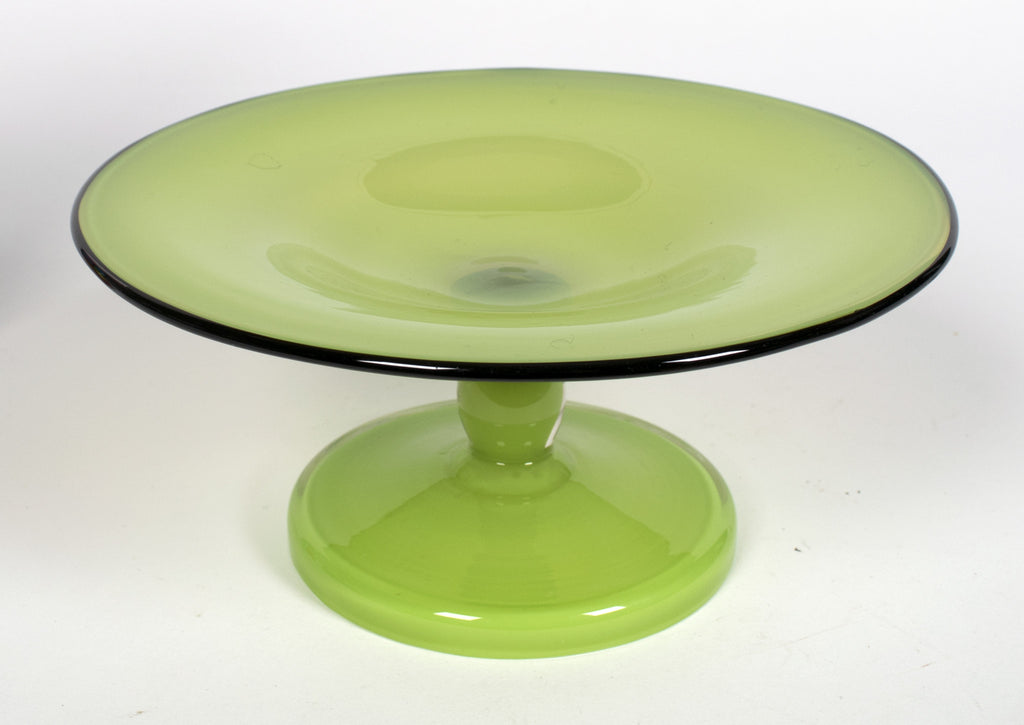"<b> MICHAEL POWOLNY (STYLE OF) FOR LOETZ</b><br> ""TANGO GLASS"" PEDESTAL BOWL, CIRCA 1920</br>"