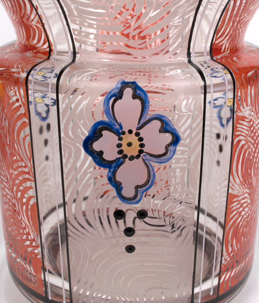 <b>PAINTED GLASS VASE</b><br>CIRCA 1918-1938</br>