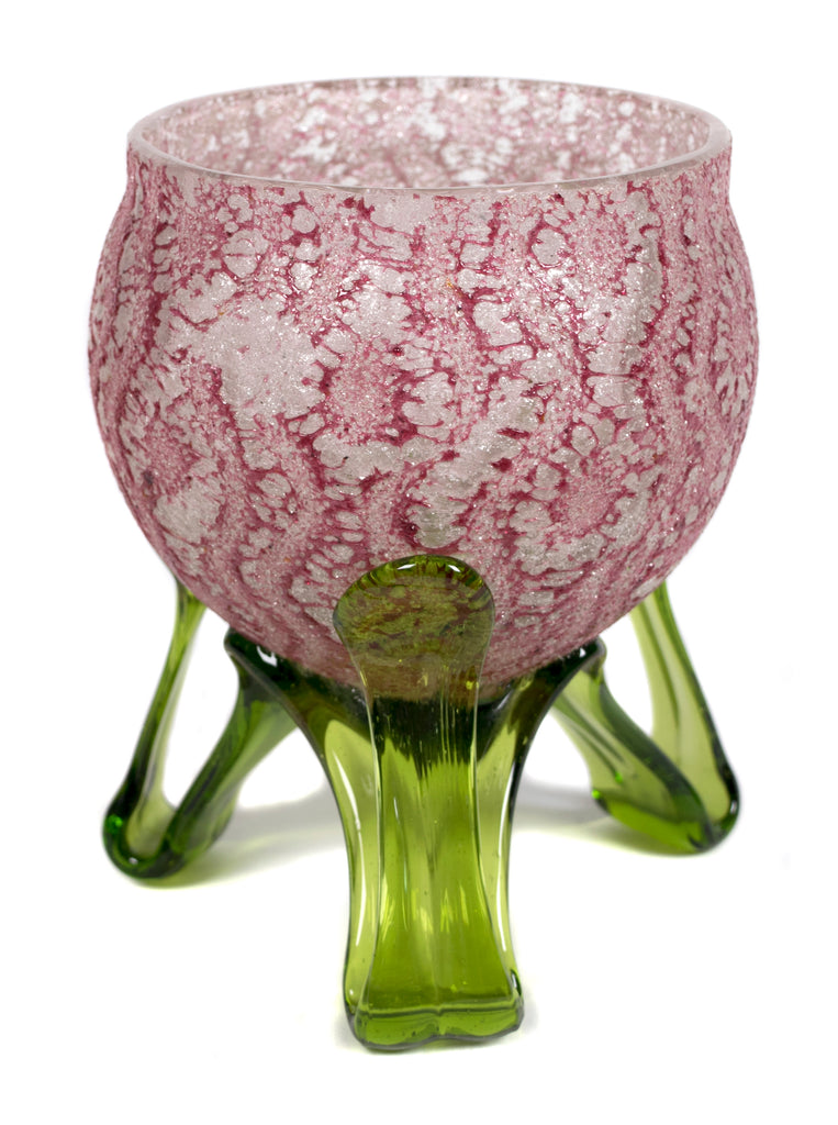 <b>STYLE OF FRANZ WELZ</b><br>VASE WITH APPLIED FEET, CIRCA 1920</br>