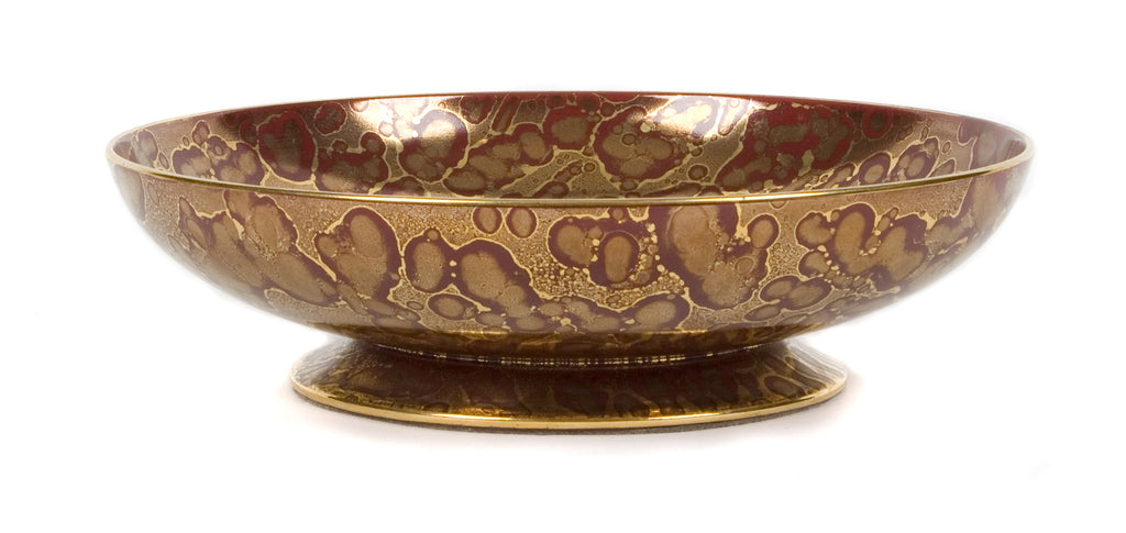 <B>SEVRES</B><BR> RED AND GOLD DISH, CIRCA 1930</BR>