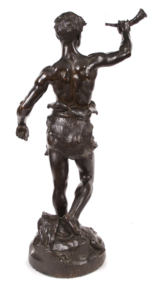 "<b>MARCEL DEBUT</b><br> ""ACTAEON THE HUNTER"" BRONZE, CIRCA 1900</br>"