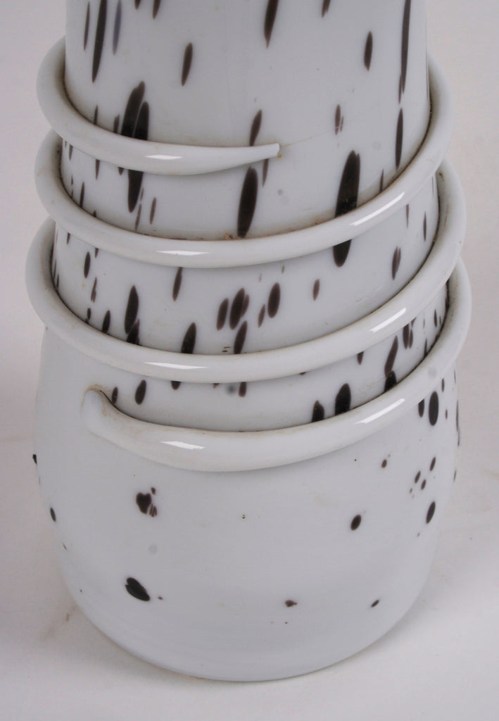 <b> MOSER</b></br>WHITE VASE WITH BLACK SPECKLES, CIRCA 1930</br>