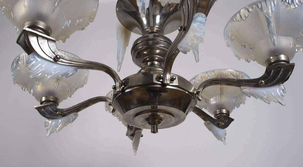 <b>ATELIER PETITOT AND EZAN</b><br> GLASS CHANDELIER, CIRCA 1930</br>
