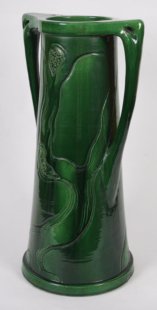<b> BELGIAN MANUFACTURER</b><br> GREEN UMBRELLA STAND, CIRCA 1900</br>