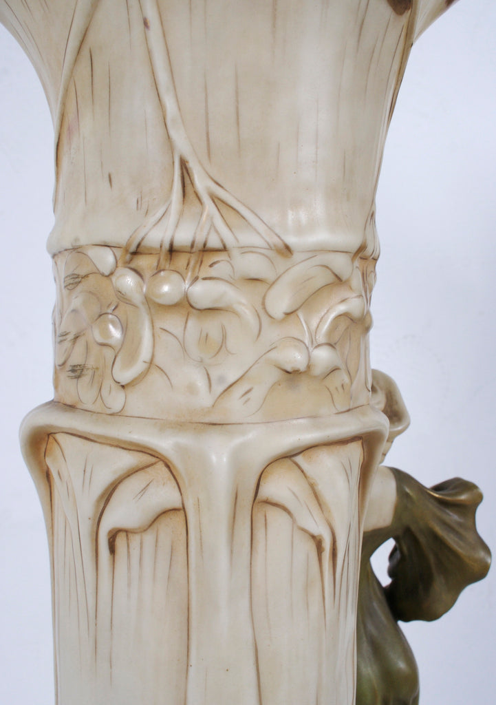 <b>DUX</b><br>TALL VASE WITH GIRL, CIRCA 1900</br>