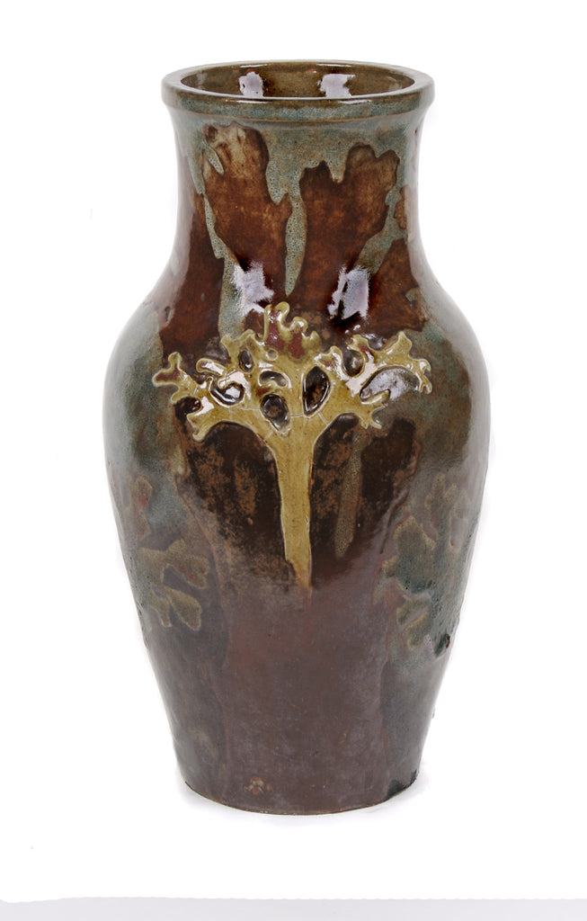 <b>ALBERT-LOUIS DAMMOUSE</b><br> STONEWARE VASE WITH ALGAE DESIGN, CIRCA 1894-1895</br>