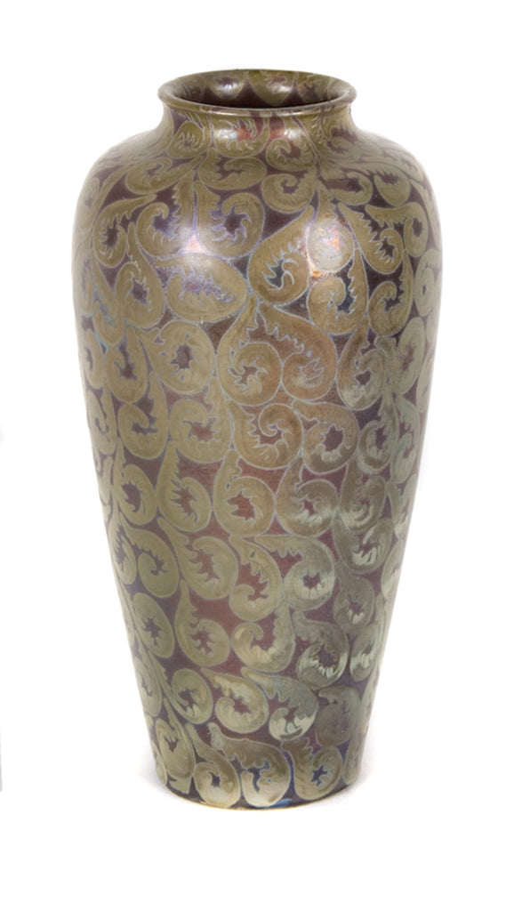 <B>CLEMENT MASSIER</B><BR> VASE WITH CURLED VEGETATION, CIRCA 1900</BR>