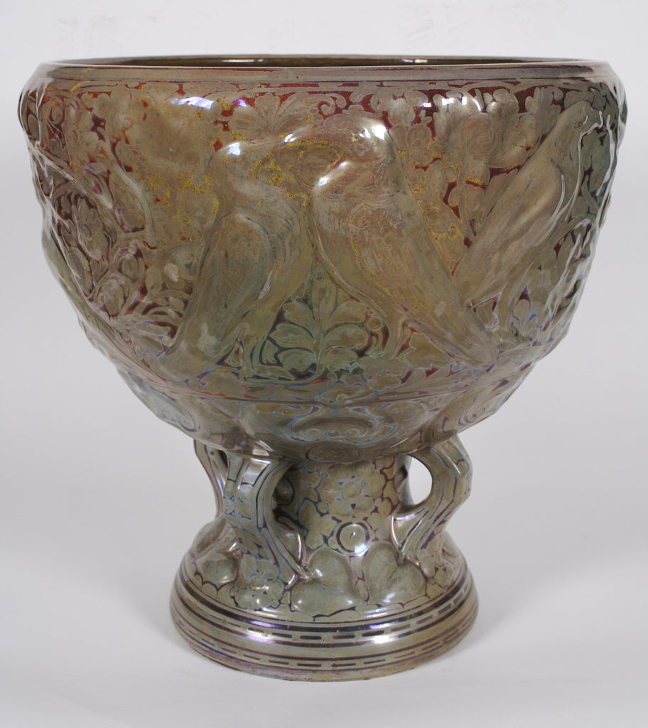 <B>CLEMENT MASSIER (ATTRIBUTED)</B><BR> BIRD THEME JARDINIERE, CIRCA 1900</BR>