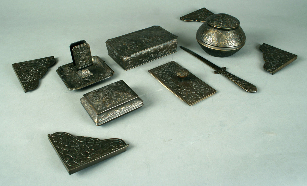 <b>MARSHALL FIELD & CO.</b><br>6 PIECE DESK SET, CIRCA 1900</br>