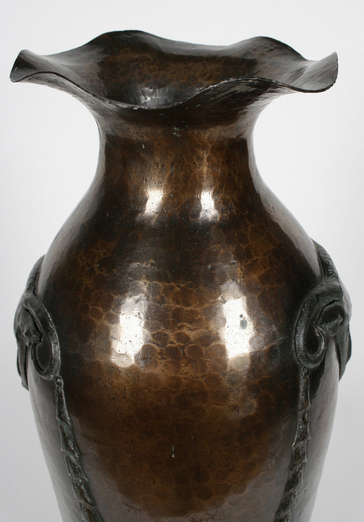 <b>PAIR OF AUSTRIAN COPPER VASES</b><br>CIRCA 1900</br>