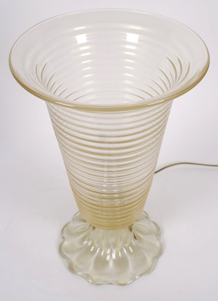<b>PAIR OF ITALIAN GLASS TABLE LAMPS</b><br>CIRCA 1970</br>