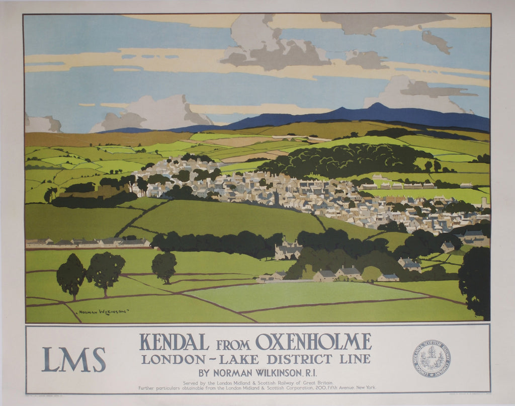 <b>NORMAN WILKINSON</b><br>KENDAL FROM OXENHOLME, CIRCA 1930</br>