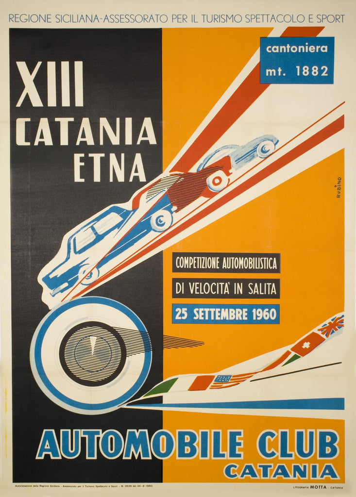 <b>RUBINO</b><br>AUTOMOBILE CLUB CATANIA, CIRCA 1960</br>