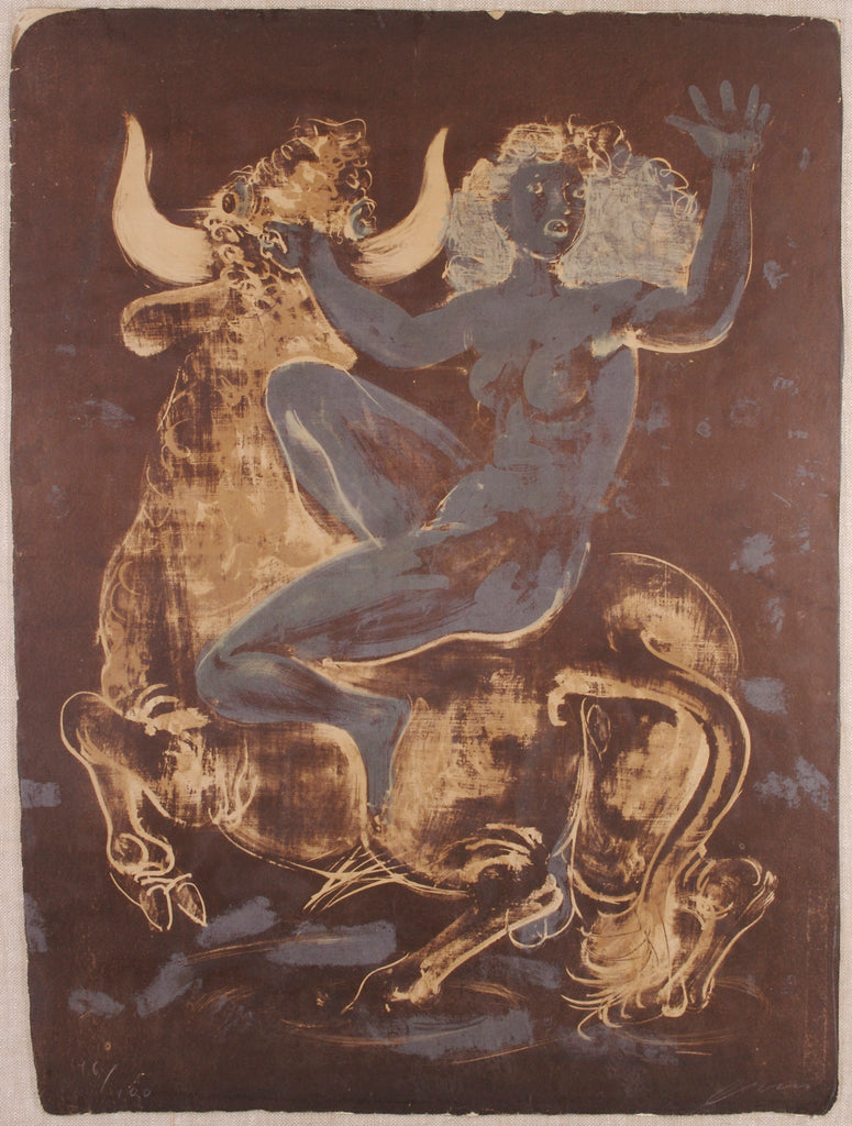<b> HANS ERNI</b><br>EUROPA AND THE BULL, CIRCA MID 20TH CENTURY</br>